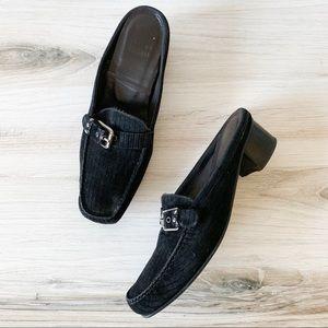 Stuart Weitzman Shoes - Stuart Weitzman Robbed Suede Mule Loafers